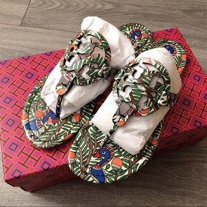 Tory Bruch Miller Printed Patent Sandal size 7.5